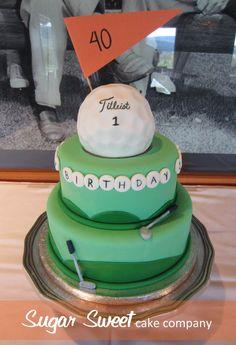 Maybe for the bday golf themed cake Husband Birthday Parties, Boy First Birthday, Birthday Ideas, Birthday Cake, Golf Themed Cakes, Golf Cakes, Celebration Cakes, Birthday Celebration, Cupcake Cakes