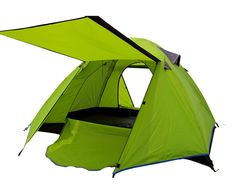 Generic Indoor Portable Family 3 Person Tent Green *** Unbelievable outdoor item right here! : Hiking tents