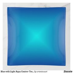 Blue with Light Aqua Centre> Trendy Trinket Trays Creative Walls, Clock, Prints, Design, Watch, Clocks