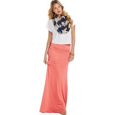 Women's Fold Over Maxi Skirt Available in Regular & Plus Sizes