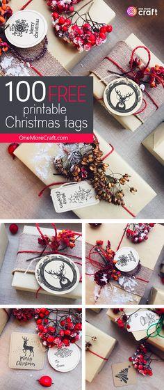 100 Free Printable Christmas Tags