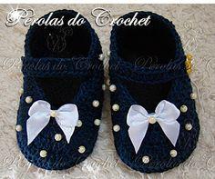 * Pérolas do Crochet: Sapatinho em croche Elegance