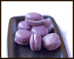 Lavender macarons with vanilla-honey mascarpone filling from Gourmantine's Blog