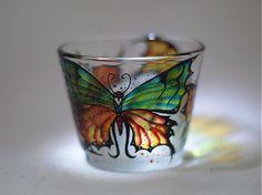 Svietnik na čajovú sviečku - Motýle 1 by E.G.ART - SAShE.sk - Handmade Svietidlá a sviečky