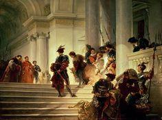 Cesare Borgia leaving the Vatican (1877) by Giuseppe Lorenzo Gatteri