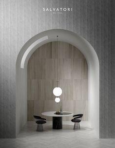 Buy online Stone parquet By salvatori, natural stone flooring design Piero Lissoni Marble Interior, Stone Interior, Paz Interior, Interior Design, Interior Walls, Round Dining Table, A Table, Wabi Sabi, Scandinavian Style