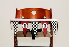 Racing High Chair Banner - Red & Black - First Birthday on Etsy, $10.00
