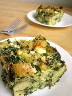 Spinach Breakfast Strata