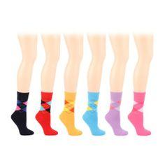 94f9bb7e1cb2 Winter Boot Ski Thick 6 Pairs Argyle Plaid Crew Ladies Mid Calf Socks Cotton  Set « Clothing Impulse