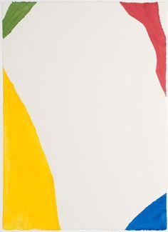 hijaktaffairs: Helen Frankenthaller. wind directions, 1970 color pochoir.