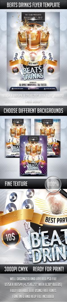 Beats Drinks Flyer - Clubs & Parties Events