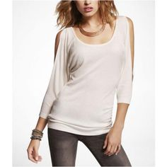 Express Womens Cold Shoulder Tunic Sweater