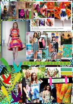 TROPICAL FASHION TREND SPRING SUMMER 2015