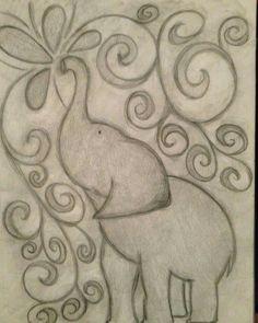 Inspiring elephant drawing