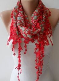 blue and pink scarf