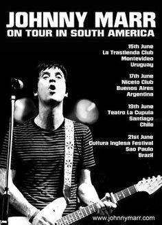 Canal Electro Rock News: Notícias: Johnny Marr's irá iniciar turnê  pela Am...