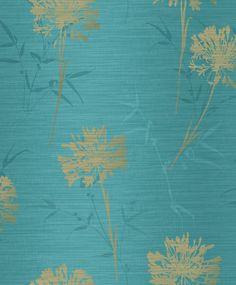 Kimora Teal / Gold wallpaper by Arthouse