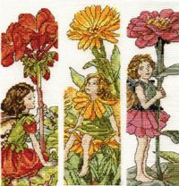 DMC Flower Fairies book marks cross stitch kits.