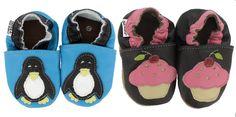 Krabbelschuhe Pinguin und Cupcake von HOBEA-Germany aus Leder