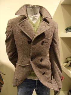 Tweed peacoat --- love the color and the cut!