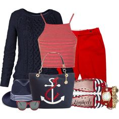 Navy and.... by cavell on Polyvore featuring moda, Fat Face, Topshop, Michael Kors, Tommy Hilfiger, La Mer, Eugenia Kim and Ralph Lauren