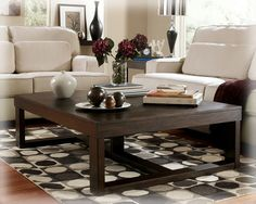 Watson Contemporary Dark Brown Wood Coffee Table Set
