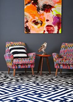 love this – i wouldn't go that crazy with the chairs, but i dig the look