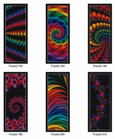Free Counted Cross Stitch Patterns | FRACTAL BOOKMARKS VOL. 2 - Counted Cross…