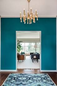 Image result for teal feature wall living room