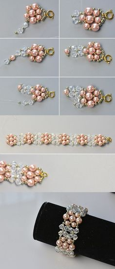 Wanna this pink pearl bracelet?You will see the tutorial from LC.Pandahall.com