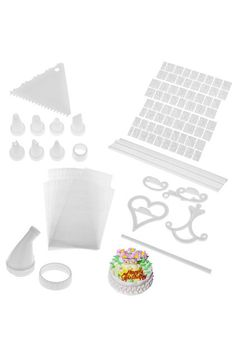 100 Piece Cake Decorating Kit Complete Decoration Set - White #Romwe