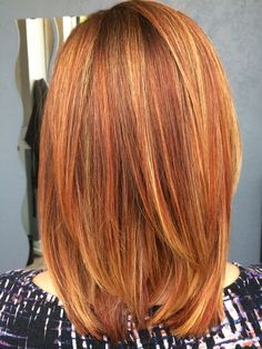 Apricot sunset! Copper with blond highlights done by the fabulous Sonja Bush
