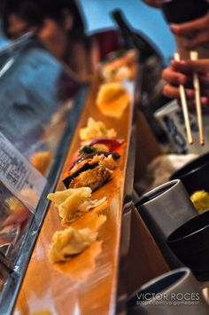 Sushi Dai, sushi bar in Tsukiji Fish Market, Tokyo, Japan. Wish I could eat here every day.