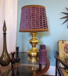 Hollywood Regency 1960s Vintage Brass Lamp Table Bedside MID Century Retro | eBay