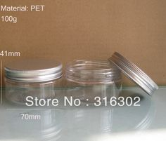 Free shippping, 100g cream jar, clear  pet  jar, Cream bottle with aluminum cap  cosmetic container,cosmetic packaging on AliExpress.com. $19.80