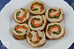 Rulada din muschiulet de porc, cu legume - CAIETUL CU RETETE Sushi, Ethnic Recipes, Pork, Sushi Rolls