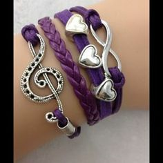 I just discovered this while shopping on Poshmark:  MUSIC, INFINITY, HEART BRACELET. Check it out!  Size: OS
