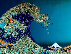 What a great representation of what we really face with plastic pollution in our oceans.
