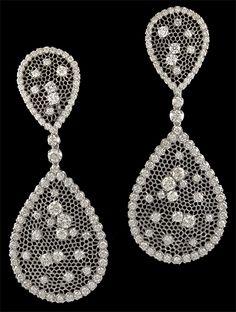 M.Buccellati Diamond Earrings.