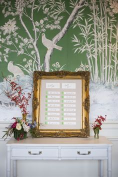 Framed Escort Cards | photography by http://www.alysefrenchphotography.com