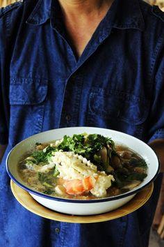 Petite soupe de crevettes à la thaïlandaise