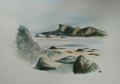 #landscape #sea #beach #art #artistic #watercolor