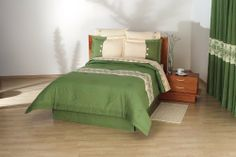 REVERSIBLE COMFORTER ARANZA VERDE TWIN SS by Concord. $65.96. NECK ROLL CUSHION. PILLOW SHAMS. DECORATIVE CUSHION. BED SKIRT