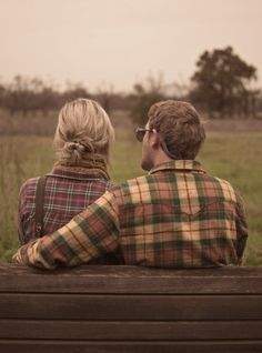 fall engagement pics by malinda... two flannel shirts