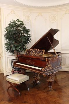 Made in the late 19th century in Stuttgart, the ornate instrument is typical of the taste of Michael Jackson.