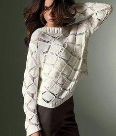 Пуловер узором крупные ромбы схема. Схема ажурного узора ромбы |