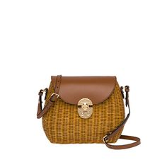 Wicker, leather Detachable adjustable leather shoulder strap Leather flap  with push-lock closure One inside pocket. Janysoares · miu miu a090f05cb4