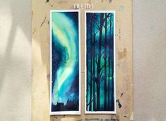 Part 1 of a Bookmark Set #watercolor #aurora by tillith_