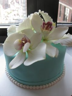 Orchid cake topper
