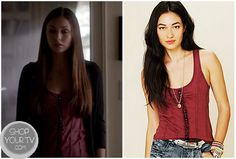 Shop Your Tv: The Vampire Diaries: Season 4 Episode 5 Elena's Red Tank Top